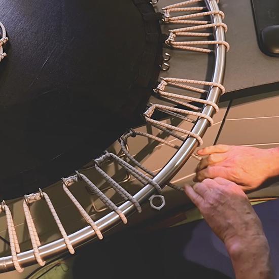 Trampolin Herstellung